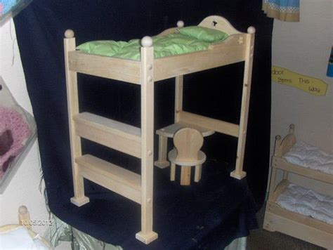 unfinished 18 quot doll loft bed chairs loft beds and desks