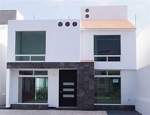 Fachadas de casas bonitas: modernas de dos pisos simples