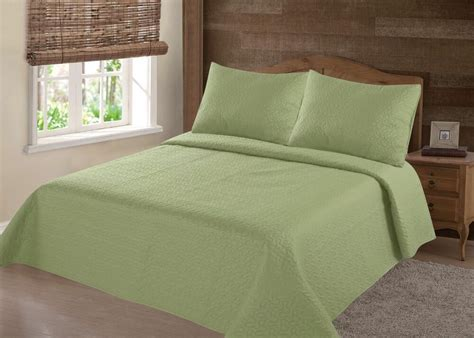 Green Coverlets by Midwest Green Nena Solid Quilt Bedding Bedspread