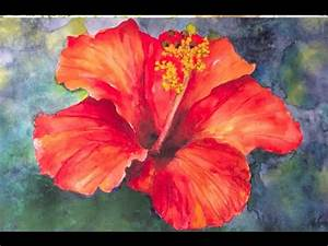 Easy, step-by-step Tutorial, How to paint Hibiscus flower ...