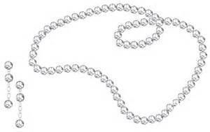 Transparent Diamond Necklace Clip Art