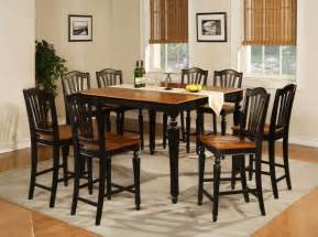Dining Room Table Sets 7pc Square Counter Height Dining Room Table Set 6 Stool