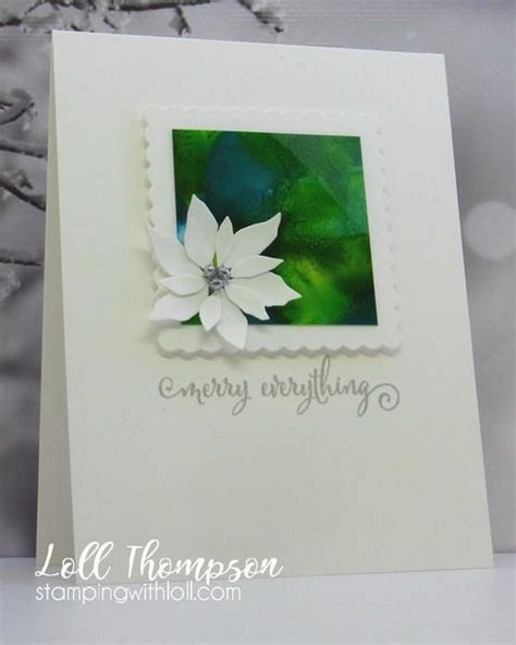 white poinsettia  images simple christmas cards