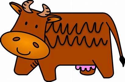 Cow Brown Clker Clip Clipart Vector Domain