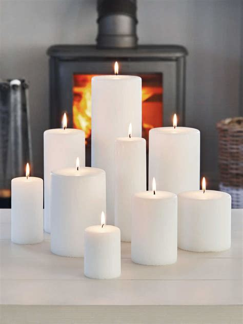 white pillar candles large church candles big pillar