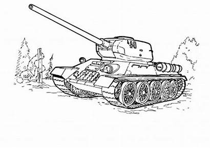 Coloring Tank Pages Army Colouring Vehicles Tiger