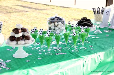 soccer theme party ideas   family table