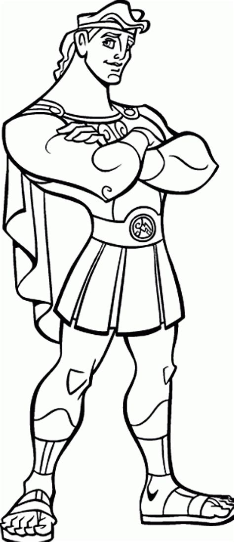 free printable hercules coloring pages for