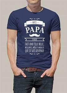 Tee Shirt Fete Des Peres : tee shirt personnalis pour un cadeau de f te des p res ou ~ Voncanada.com Idées de Décoration