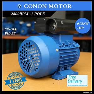 0 75kw 1hp 2800rpm Reversible Cscr Electric Motor Single