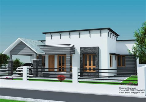 sq ft single floor contemporary home design