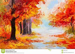 paysage de peinture a l39huile foret coloree d39automne With toute les couleurs de peinture 0 peinture amour dautomne