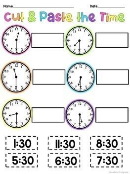 telling time worksheets  grade hour   hour