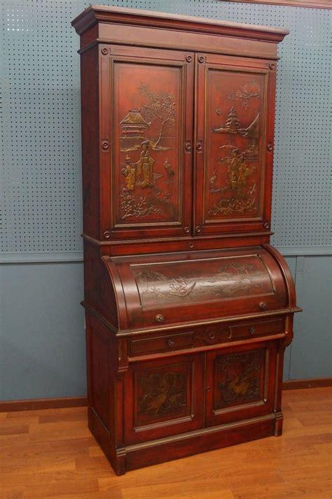 antique cylinder roll top desk chinoiserie berkey gay