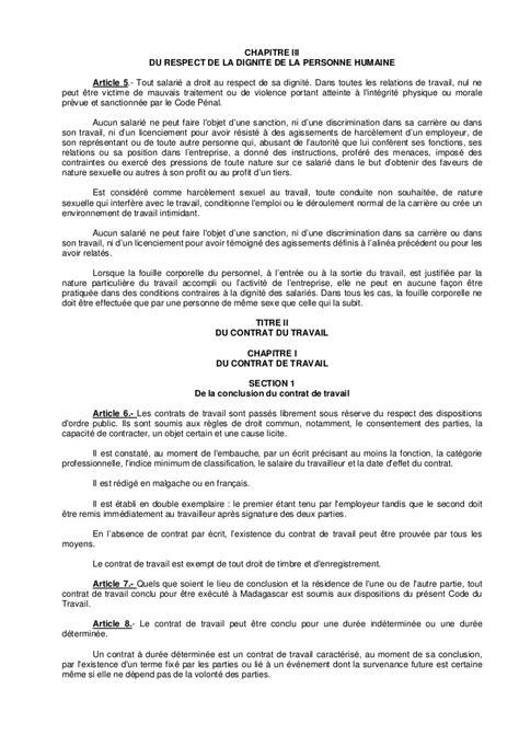modèle contrat de bail commercial madagascar modele contrat de travail madagascar document