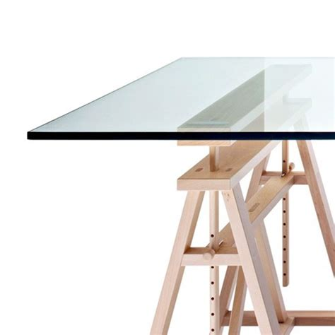 bureau table en verre table architecte en verre