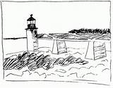 Lighthouse Coloring Pages Printable Realistic Bestcoloringpagesforkids Popular sketch template