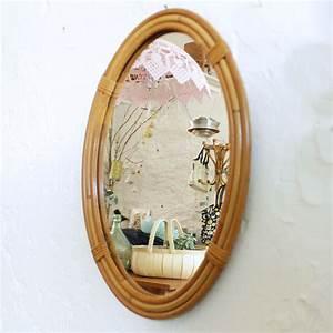 Petit Miroir Rotin : miroir rotin vintage jonc f420 atelier du petit parc ~ Melissatoandfro.com Idées de Décoration