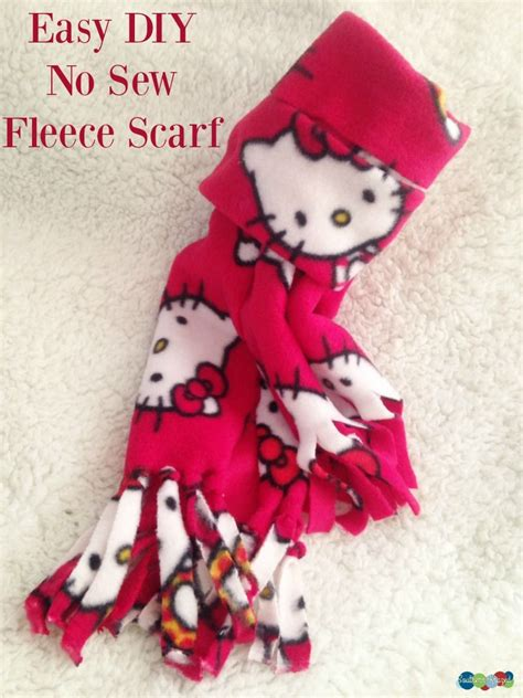 easy diy  sew fleece scarf sewing fleece diy scarf