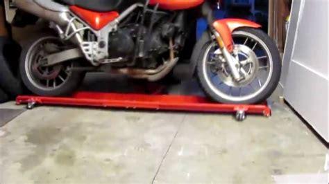 pedana sposta moto carrello sposta moto
