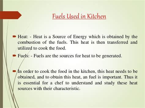 fuels   kitchen