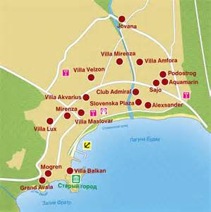 Budva Montenegro Map