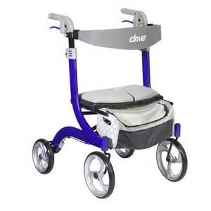 design rollator nitro dlx style walker rollator sleek blue orbit