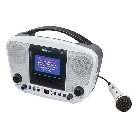 gifts for karaoke fans karaoke night cd g karaoke machine with 4 3 quot tft color