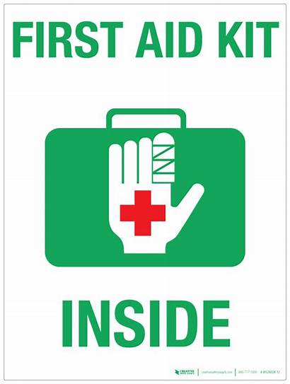 Aid Kit Inside Signs Safety Signboard Signage