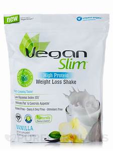 Veganslim U2122 High Protein Weight Loss Shake  Vanilla