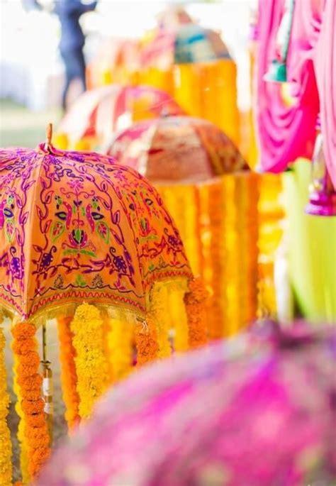 rajasthani umbrella decor india wedding mandap