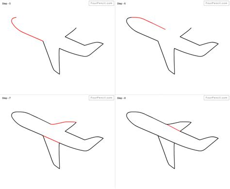How To Draw A Airplane Step By Step Pencil Art Drawing