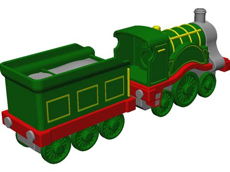 Cartoon Train Engine