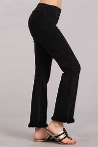 Chatoyant Mineral Wash Bell Bottom Soft Pants 8 Colors