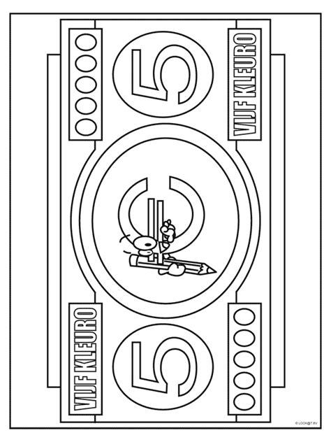 Kleurplaat Geld by Kleurplaat 5 Kleurplaten Nl