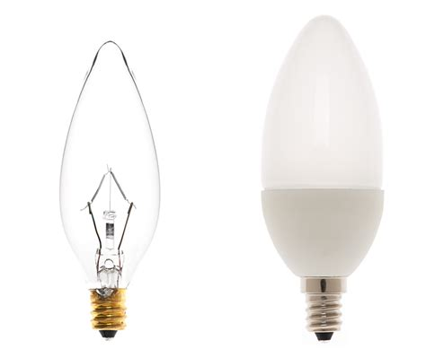 candelabra led bulb blunt tip candle shape 170 lumens