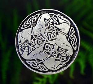 Celtic Horse Knot-Work Epona Pewter Brooch Pin -Irish ...