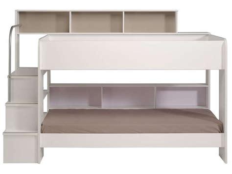 lit superpos 233 90x200 cm blanc bibop coloris blanc vente de lit enfant conforama