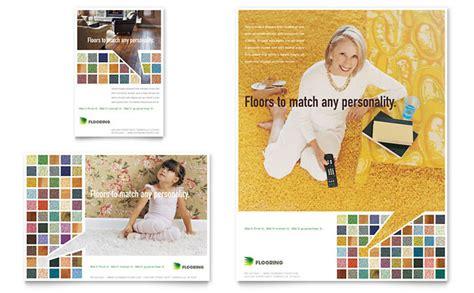 carpet hardwood flooring flyer ad template design