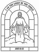 Yesus Tuhan Mewarnai Kelahiran Sketsa Kristus Perayaan sketch template