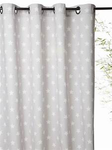 Rideau Rose Et Gris : rideau imprim en coton avec oeillets raye gris blanc etoiles marine etoiles rose marine etoiles ~ Teatrodelosmanantiales.com Idées de Décoration