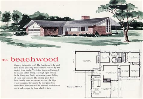 beachwood house plan  mid century home style   flickr
