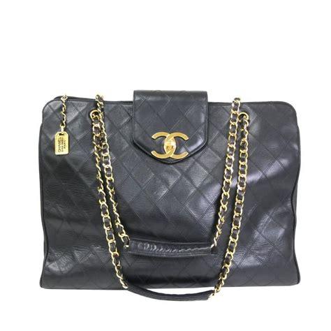 chanel vintage black quilted calfskin supermodel weekender shoulder bag  stdibs