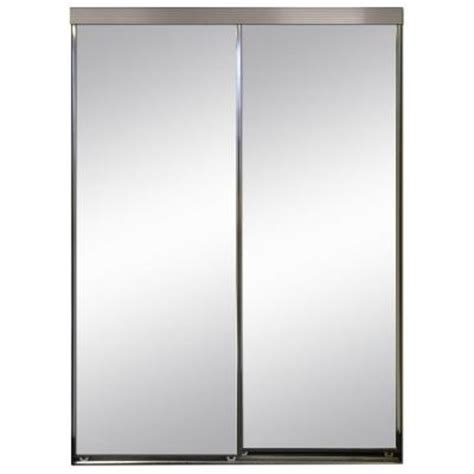 impact plus 90 in x 84 in polished edge mirror framed