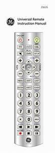 Ge 20626 Ge Universal Remote User Manual