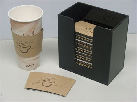 coffee cup sleeve  hot cup holder short dispenser