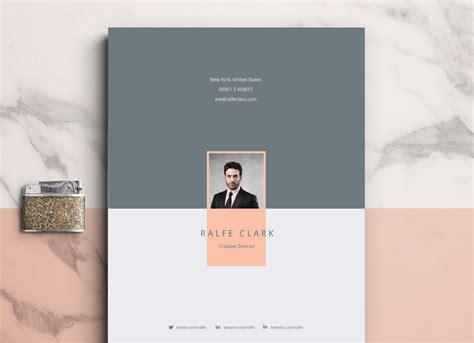 modern resume template cover letter portfolio  ai
