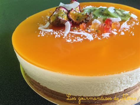 entremet fruits de la insert mangue les