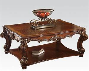 traditional square coffee table vendome cherry by acme ac82002 With cherry wood square coffee table