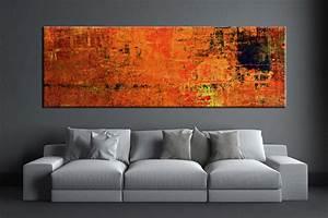 1 piece orange wall art abstract canvas print With orange wall art